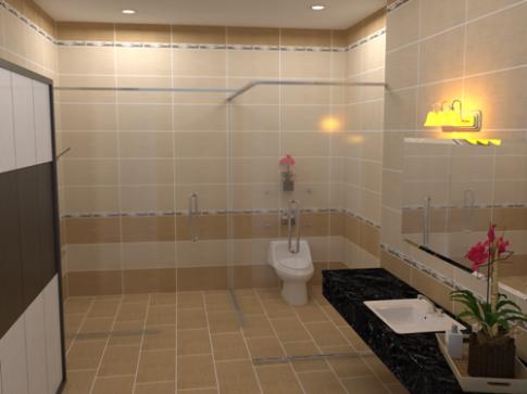 Phòng tắm tiện nghi và thoáng đãng