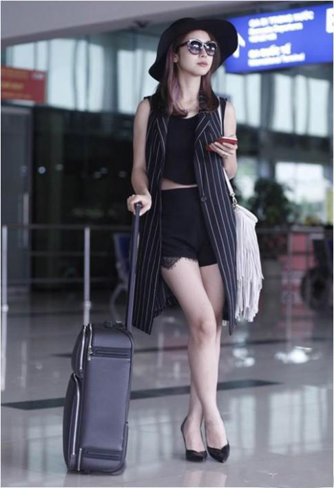 Sao Việt diện thời trang sân bay quá điệu và kiểu cách