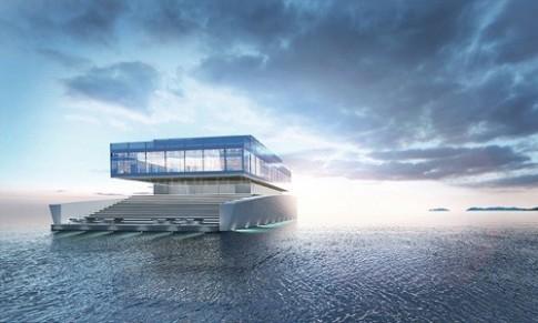 Siêu du thuyền mang hình dáng tòa nhà thu nhỏ