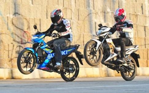 So sánh Suzuki Satria F150 Fi và Honda Sonic 150R về khả năng tăng tốc