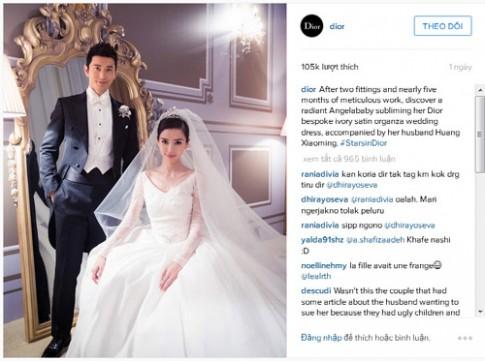Sốc vì váy cưới của Angela Baby có giá hơn 900 tỷ đồng