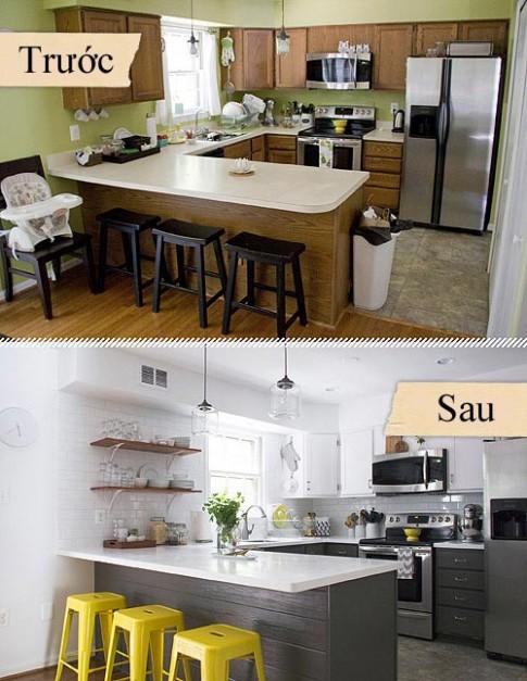 Sửa bếp cũ sạch đẹp hơn với 120 triệu đồng