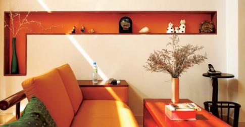 Tận dụng hốc tường nhà để đồ đạc