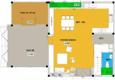 Thiết kế nhà 3 tầng cho gia đình 5 người