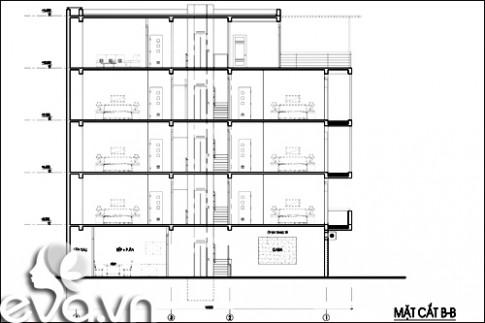 Thiết kế nhà ở kết hợp cho thuê trên đất 72m2