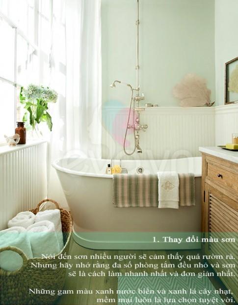 Thổi hồn spa vào phòng tắm tại gia