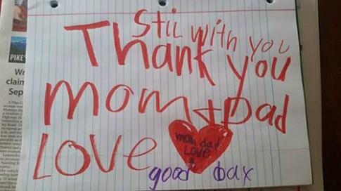 Thư tạm biệt bố mẹ trước khi chết của cậu bé 6 tuổi