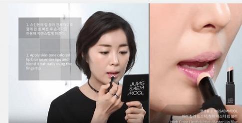 """""""Thủ thuật"""" đánh son đẹp chuẩn Hàn Quốc chỉ trong 10 giây"""