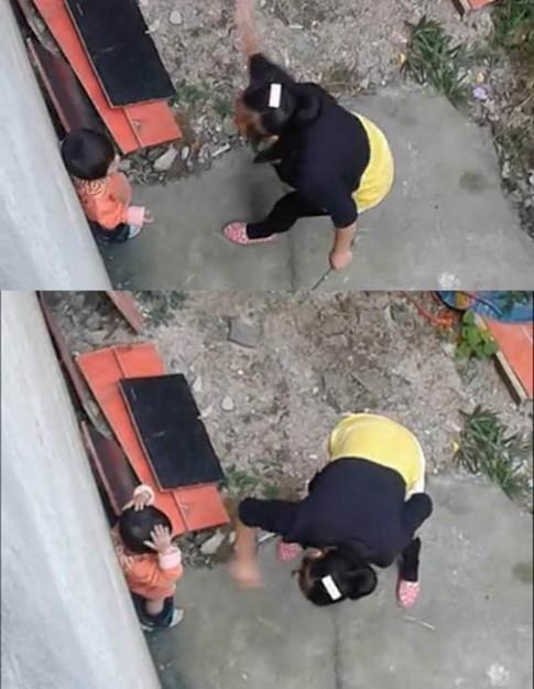 TQ: Phẫn nộ với loạt ảnh mẹ đánh con túi bụi