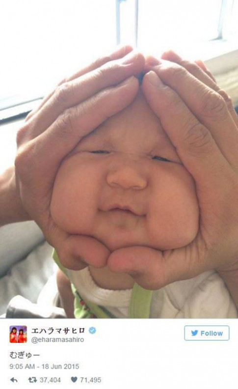 Trào lưu nặn mặt em bé hình cơm nắm gây chao đảo dân mạng