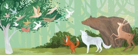 Truyện cổ tích: Chim hồng tước và gấu