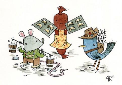 Truyện cổ tích: Chuột nhắt, chim sẻ và xúc xích