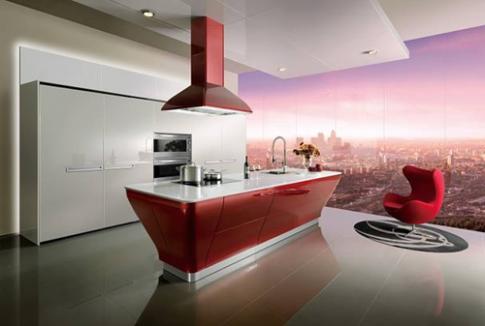 Tủ bếp hiện đại, tiện dụng cho gia đình