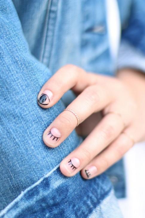 Tự vẽ nail hình lông mi cực ấn tượng chỉ mình bạn có