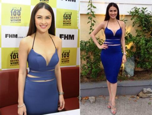 Váy áo tôn vòng một của 'Mỹ nhân đẹp nhất Philippines'