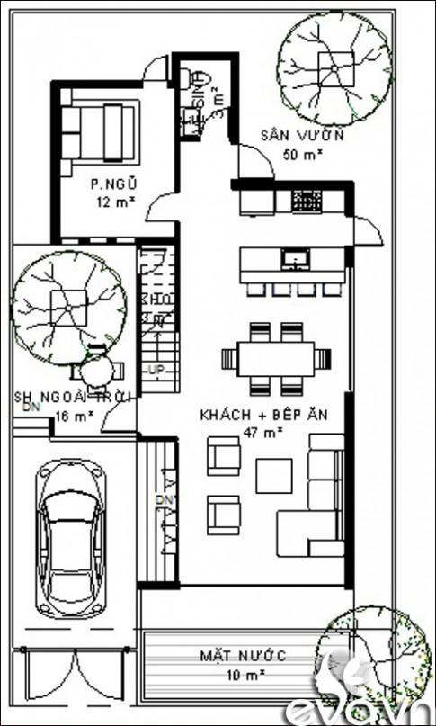 Xây nhà 144m2 hợp phong thủy tuổi Giáp Tý