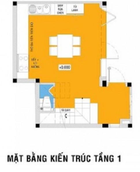 Xây nhà 4 tầng nhỏ gọn hình vuông