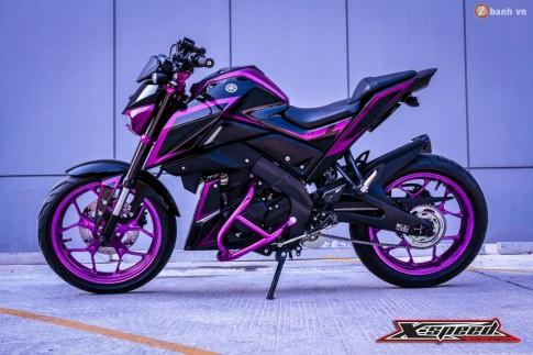 Yamaha M-Slaz đầy ấn tượng với bộ cánh tím Chrome
