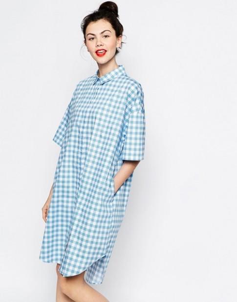 12 mẫu váy sơ mi giá bình dân giúp chị em đẹp mọi nơi