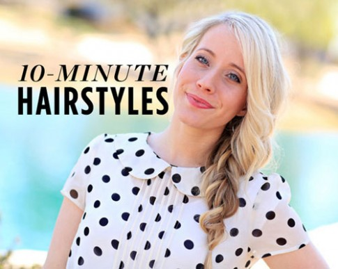 6 kiểu tóc đẹp chỉ cần 10 phút thực hiện