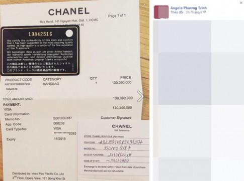 Angela Phương Trinh lại khoe hàng hiệu kèm hóa đơn