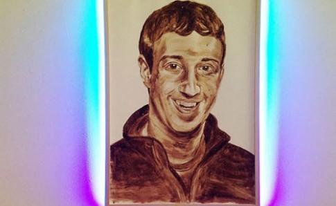 Ảnh chân dung Mark Zuckerberg sơn từ... phân người