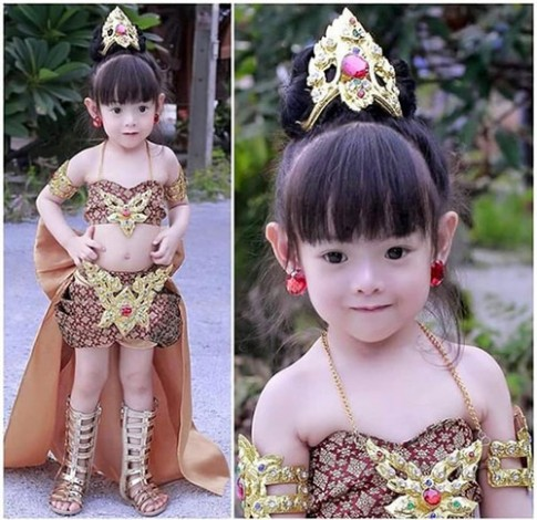 Bé gái Thái được hứa hẹn là đại mỹ nhân tương lai