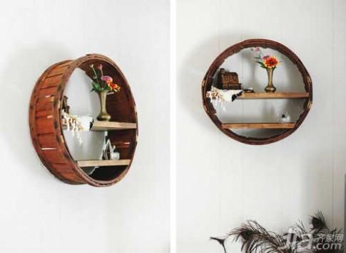 Biến thùng gỗ bỏ đi thành giá đựng đồ đẹp mê ly