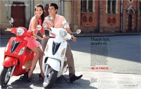 Bộ sưu tập Kymco Many Fi so dáng cùng người mẫu