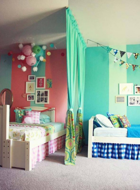Bố trí phòng ngủ chung cho con trai và con gái