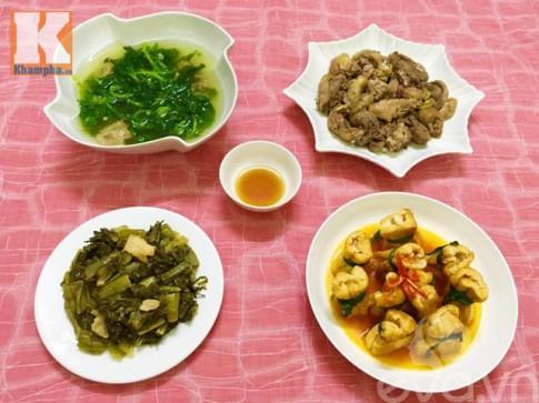 Bữa ăn giản dị mà ấm áp