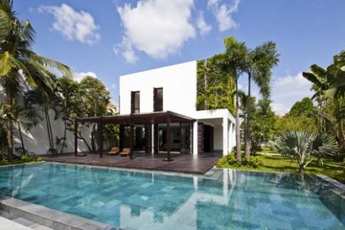 Các kiểu bể bơi ngoài trời của những ngôi nhà Sài Gòn