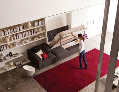 Các kiểu giường gấp tiện lợi cho nhà nhỏ