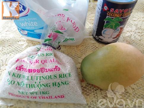 Cách nấu xôi xoài ngon như nhà hàng Thái