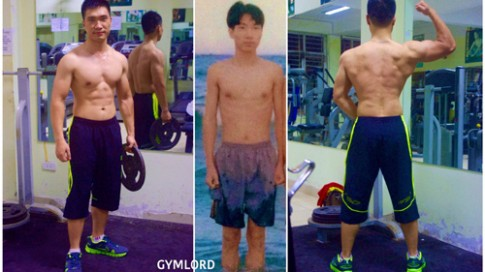 Chàng trai Việt gày gò 'lột xác' với cơ bắp cuồn cuộn
