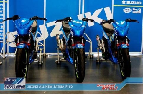 Chi tiết phụ tùng trên chiếc Suzuki Satria F150 FI phiên bản Racing