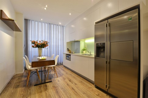 Có nên lát gỗ cho phòng bếp