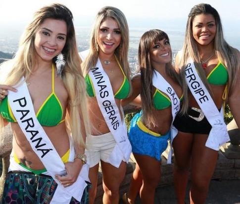 Dàn người đẹp Hoa hậu vòng 3 Brazil cực nóng bỏng