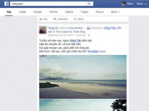 Facebook cho phép tìm kiếm status ở chế độ công khai