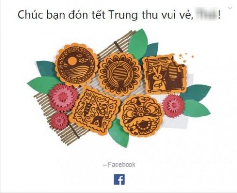 Facebook, Google chúc mừng Tết Trung Thu