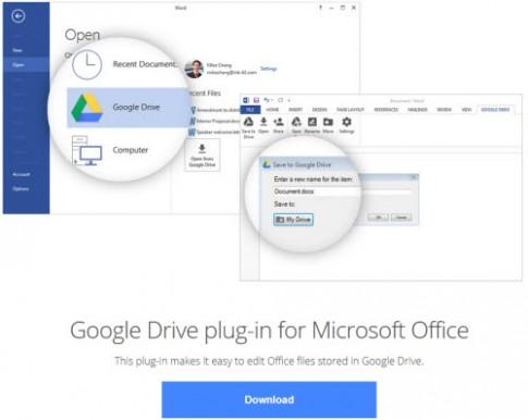 Google tung công cụ đồng bộ dữ liệu với Microsoft Office