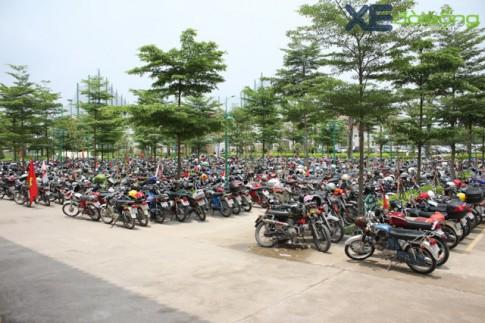Hình ảnh bãi đỗ xe ken dày toàn xe máy 67, Min-khờ, Honda CD