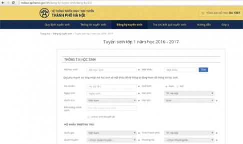 Hôm nay, Hà Nội chính thức tuyển sinh lớp 1 trực tuyến
