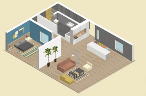 Không khó để thêm phòng ngủ thứ 2 cho căn hộ dưới 60 mét vuông.