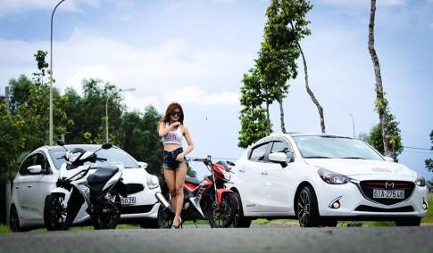 Kiều nữ Việt đọ dáng bên cặp đôi Honda Winner và Sonic 150