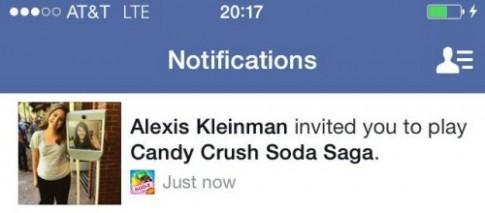 Mất bạn vì mời chơi game Candy Crush trên Facebook
