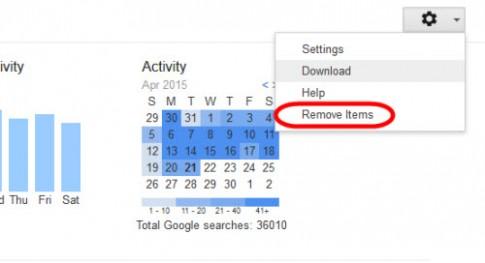 Mẹo: Xóa sạch lịch sử tìm kiếm trên Google