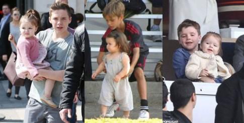 Nể nhà Beckham cách dạy con trai bản lĩnh, ga-lăng từ bé