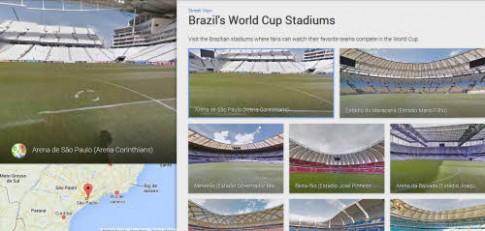 Ngắm 12 sân bóng của World Cup 2014 qua Google Maps