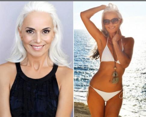 Người mẫu 60 tuổi sexy, trẻ đẹp khó tin nhờ rau hữu cơ